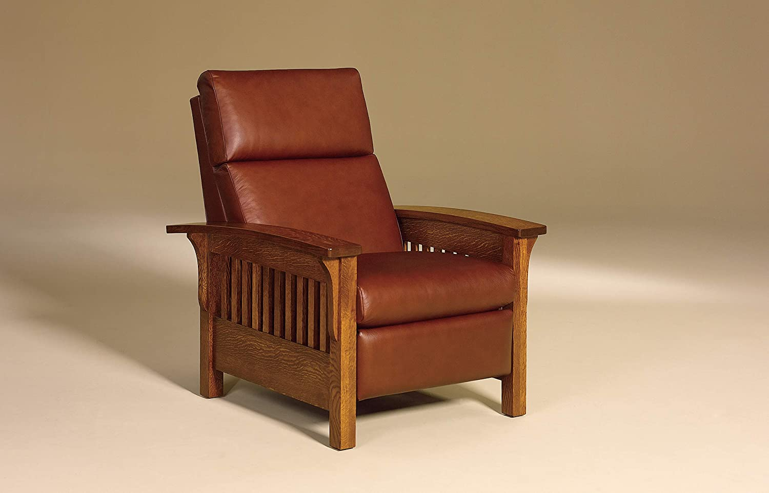 Amish Solid Wood Recliner Chair Heartland Mission Arts & Crafts