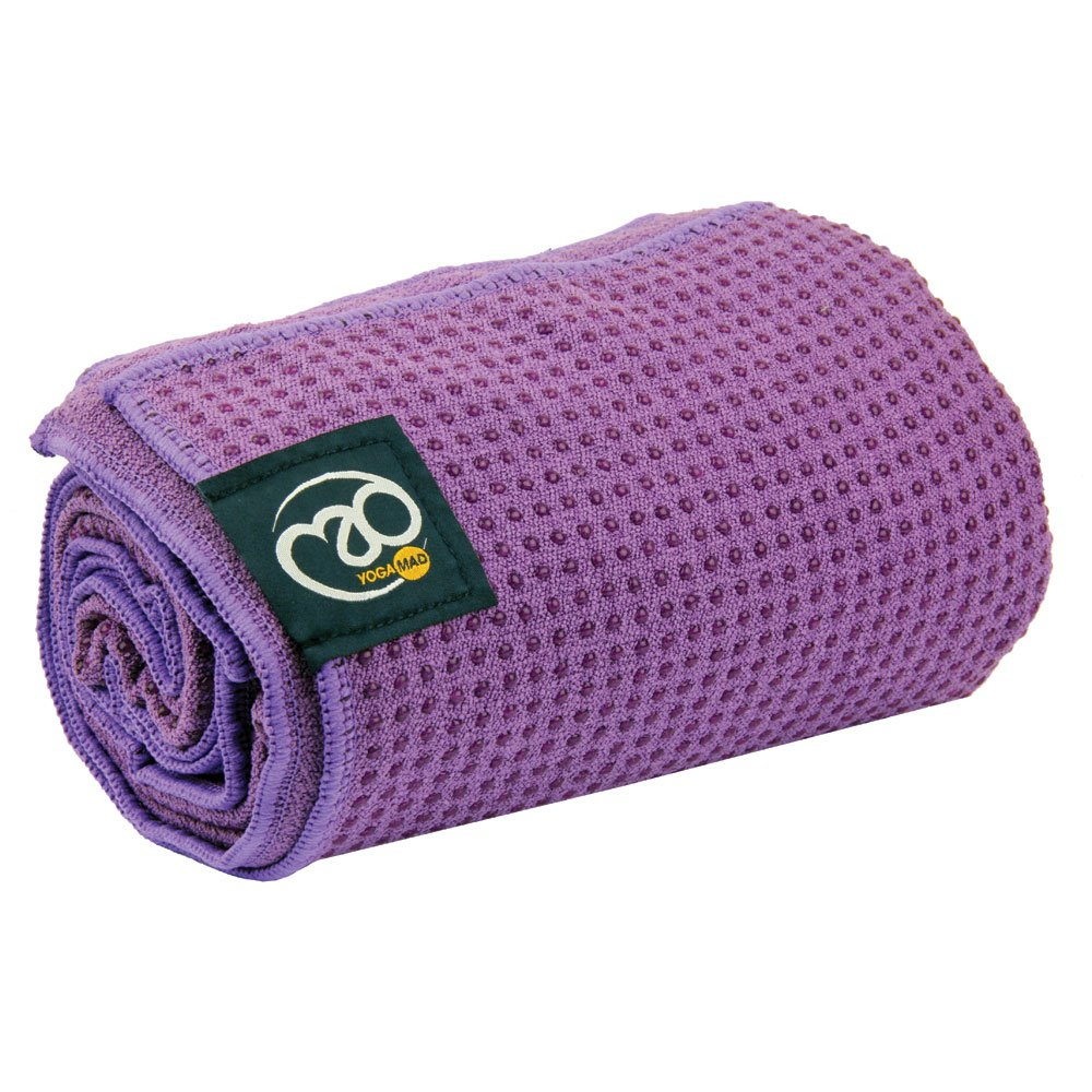 Amazon.com : Yoga-mad Womens Grip Dot Towel - Purple ...