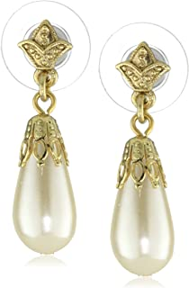 product image for 1928 Jewelry Her Majesties Pearl Drop Earrings