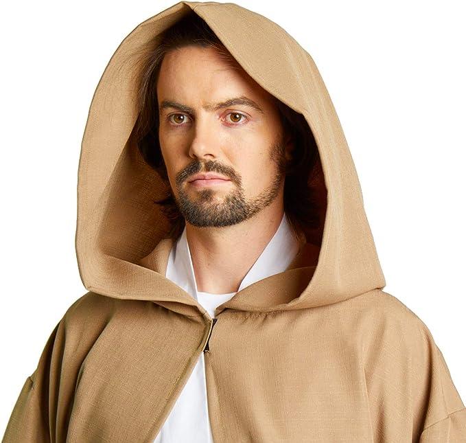 Largemouth Hombres del Jedi Sith Robe Capa Disfraz Adulto Marrón ...