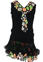 Colorfulworldstore Mädchen/Frauen Turnierkleid für Latin Cha cha cha Lumba Samba, zweiteiliges Übungskostüm