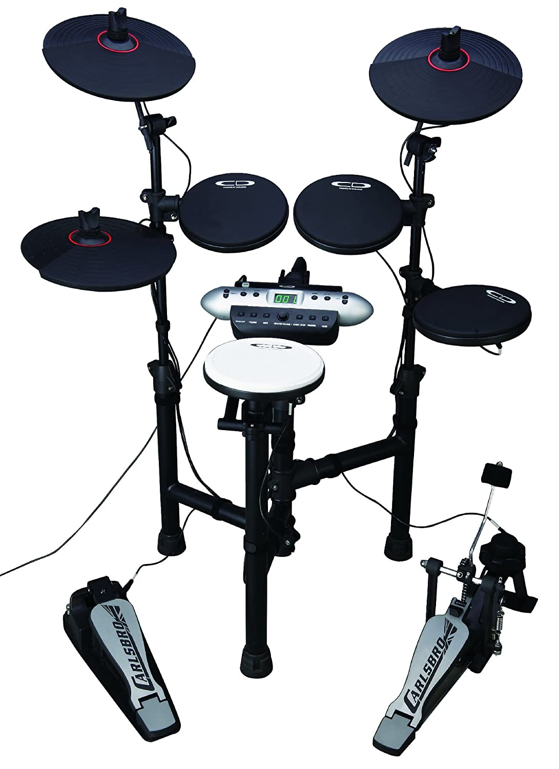 Amazon Com Carlsbro Csd130 Electronic Drum Set With Realistic Kick