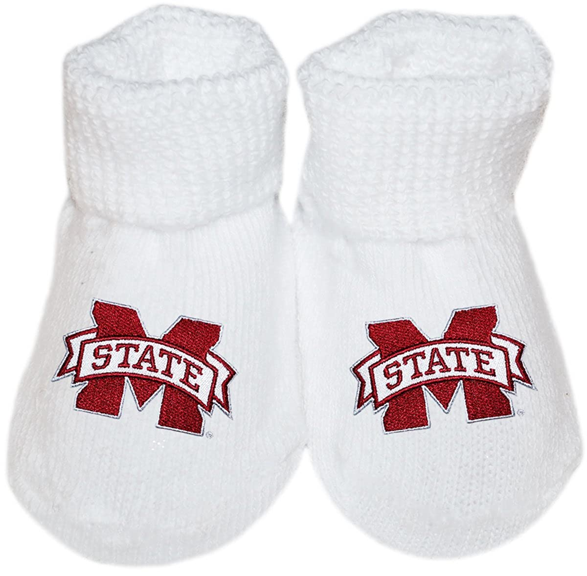 Mississippi State University Newborn Baby Bootie Sock