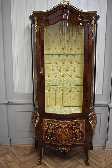 LouisXV Barock Vitrine Rokoko Antik Stil Schrank Louis XV MKVi0013 ...