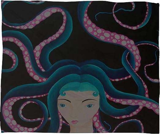 50 x 60 Deny Designs Mandy Hazell Octo Hair Fleece Throw Blanket