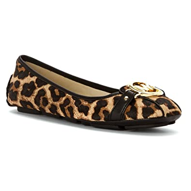 70b297badcd3 Michael Kors Womens Flats Natural Cheetah Haircalf Vachetta 7 US   5 UK US
