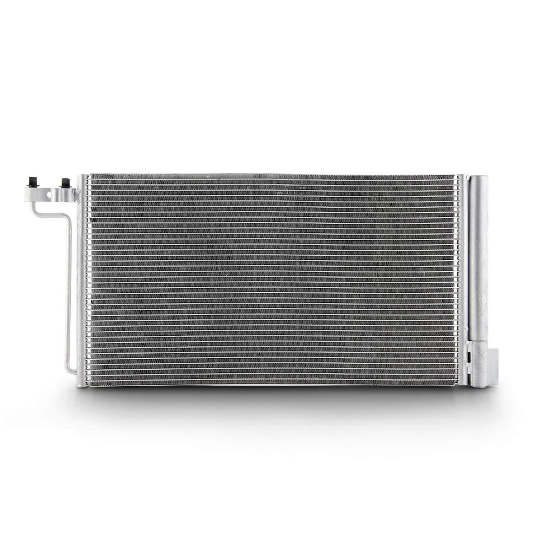 Fits 2012 2013 2014 Ford Focus 4-Door Sedan Hatchback A//C Air Condenser w//Silver Aluminum Core