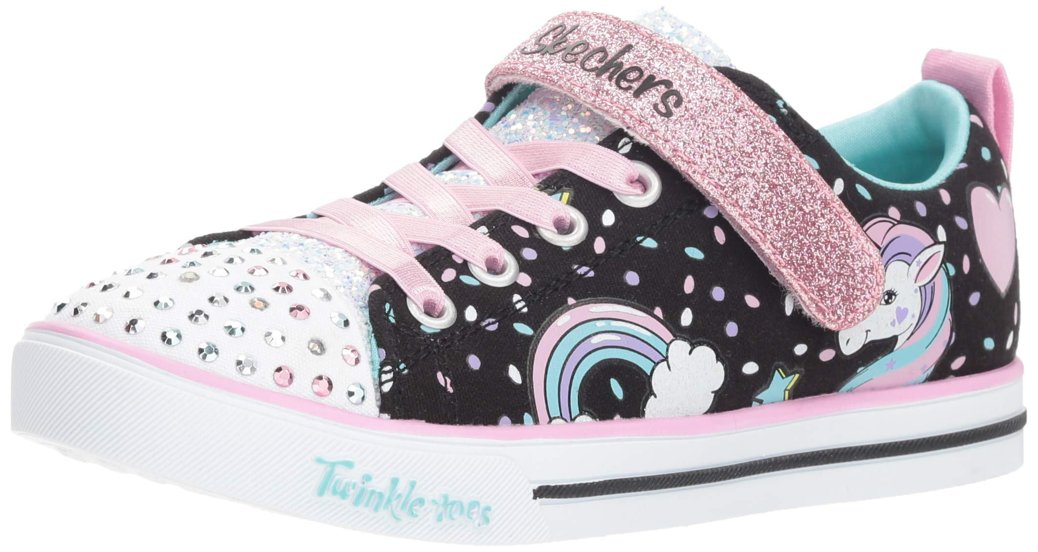 29278a784045 Galleon - Skechers Kids Girls' Sparkle LITE-Unicorn Craze Sneaker  Black/Multi 13 Medium US Little Kid