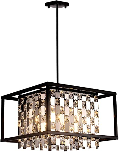 BEIRIO Modern K9 Crystal Pendant Lighting