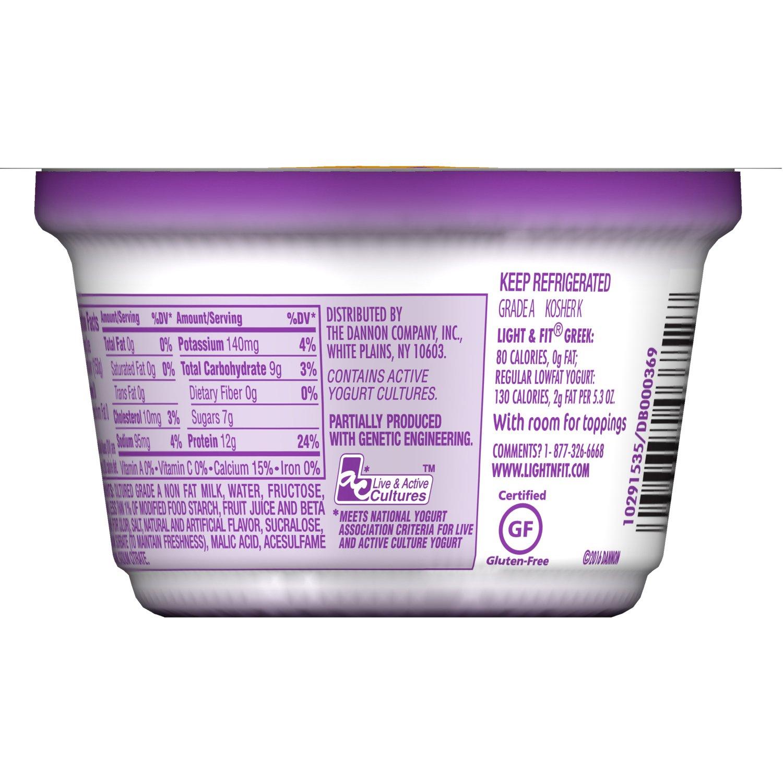 Dannon Light Fit Blended Nonfat Greek Yogurt Caramel Macchiato