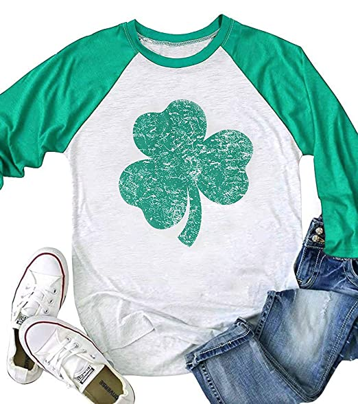 Graflying St. Patrick's Day Green Lucky Shamrocks Distressed ...