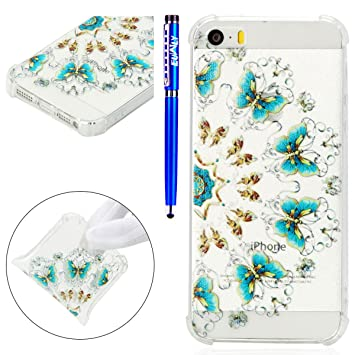 Carcasa iPhone 5S/iPhone SE, EUWLY Funda iPhone 5S Silicona ...