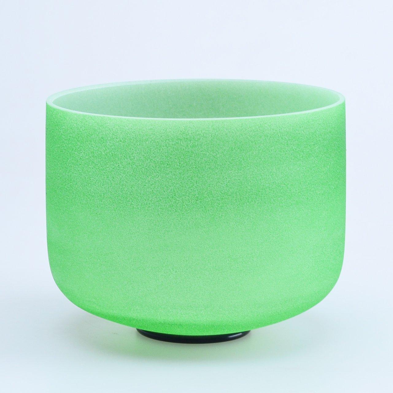 440HZ 8'' F Heart Green Chakra Quartz Crystal Singing Bowl by Donghai Quartz