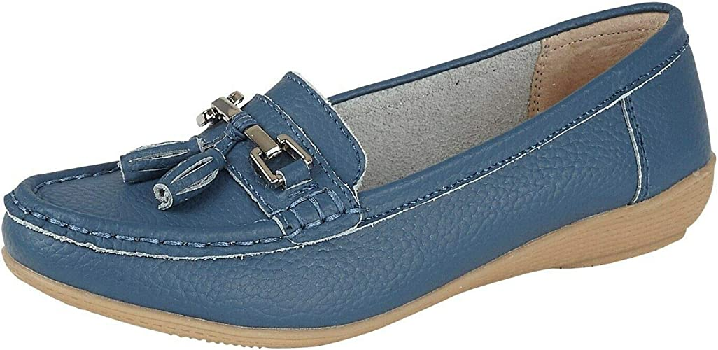 Stylozuk Ladies Leather Loafers Tassel