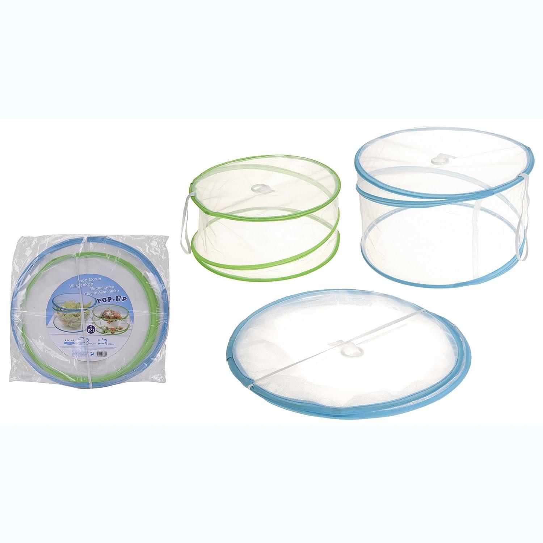 Fliegenhaube 2er Set Speisen-Haube Abdeckung Lebensmittel Kuchenabdeckung Fliegennetz MM Exclusiv