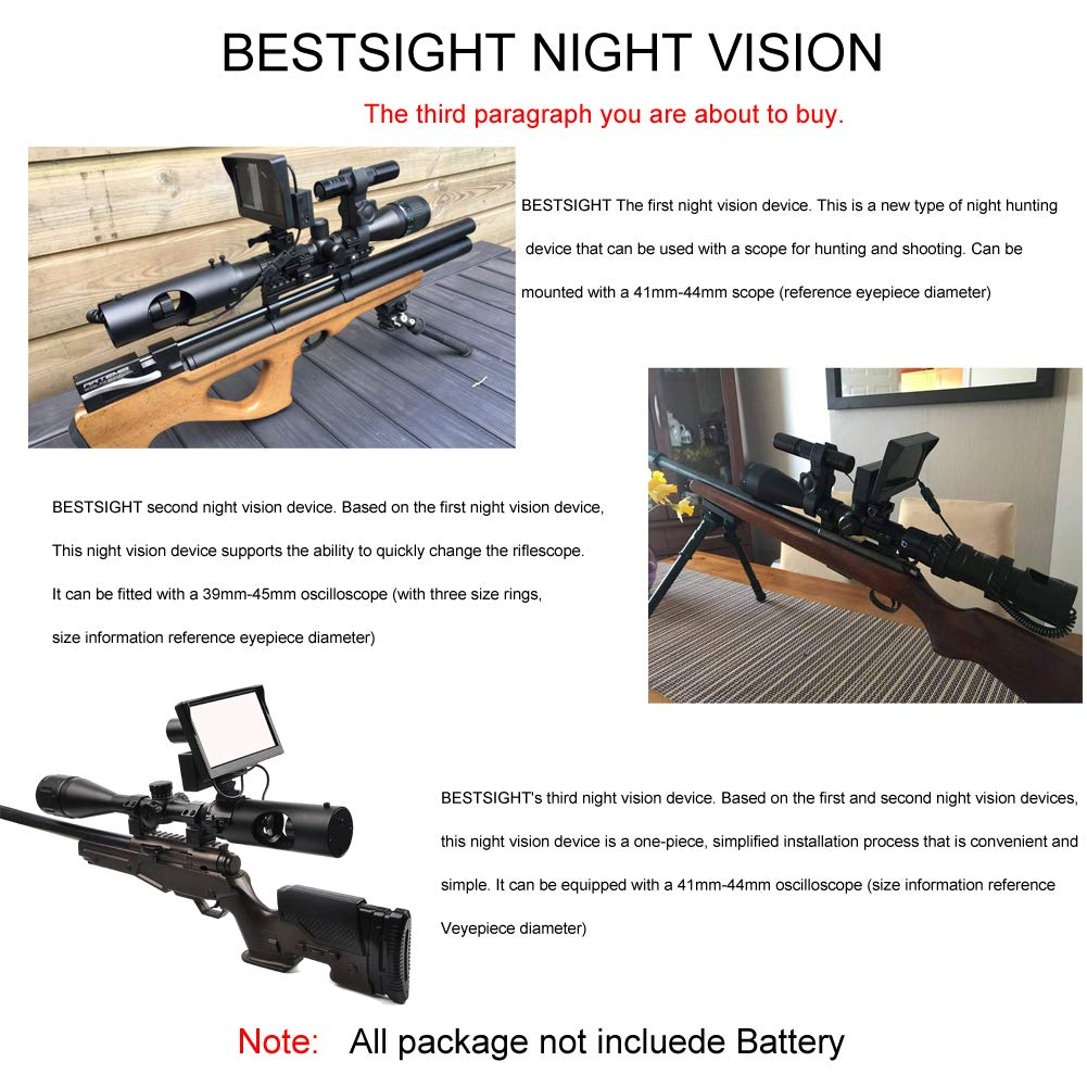Digital Night Vision Scope for Rifle Hunting with Camera and 5'' Portable Display Screen by bestsight (Image #7)