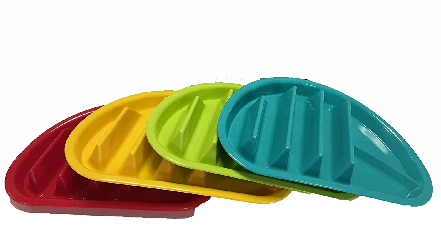 Arrow Home Products 10109 Fiesta Taco Plate 12-Pack Assorted Colors