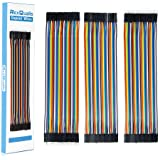 REXQualis 120pcs Breadboard Jumper Wires 20cm Length Dupont Wire Kit 40pin Male to Female, 40pin Male to Male, 40pin…