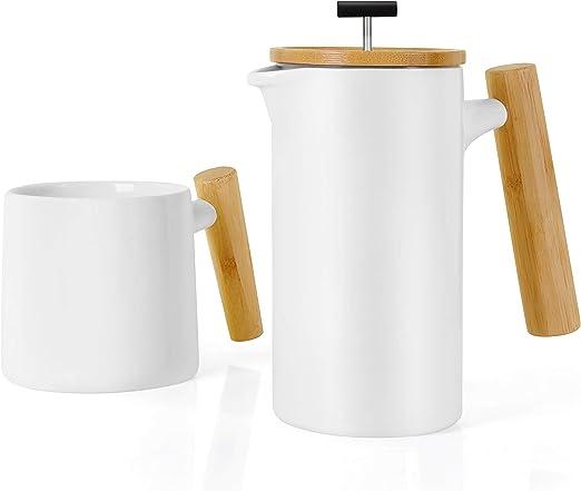 NeoCasa Prensa francesa de cerámica para hacer café/té (grande, 27 ...