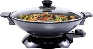 Continental Electric PS-SK319 Chef Electric Wok, 4.5 Quart, Black