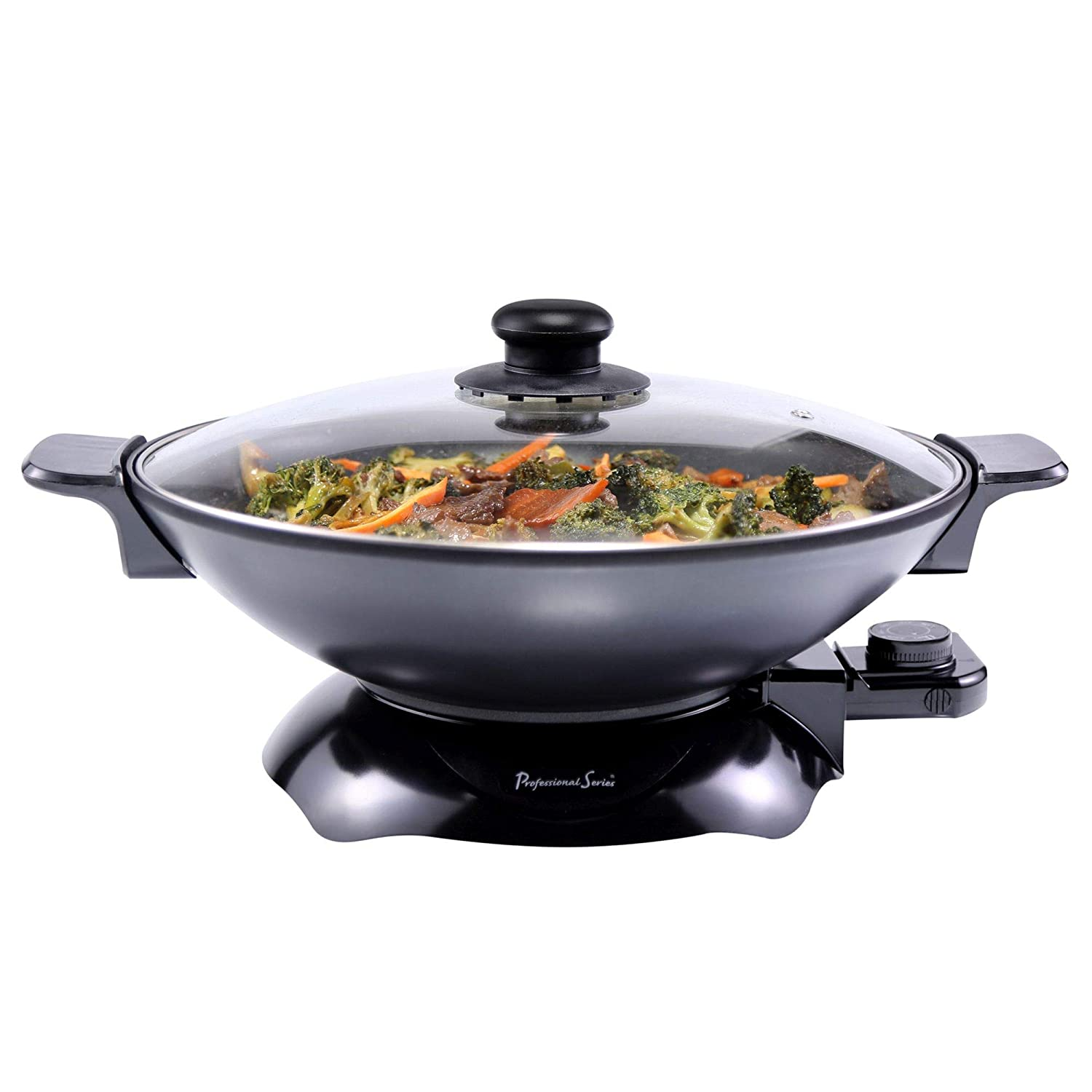 Continental Electric PS-SK319 Chef Electric Wok 4.5 Quart Black