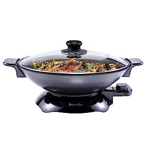 Continental Electric PS-SK319 Chef Electric Wok 4.5 Quart Black
