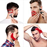 4 Pieces Beard Shaping and Haircut Tool Kit, Beard Shaping Tool, Neckline Template Guide, Hairline Template Stencil, Mustache