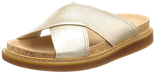 2b3a7a2fbd5b Clarks Women s Trace Drift Champagne Leather Fashion Sandals-3.5 UK India  (36 EU