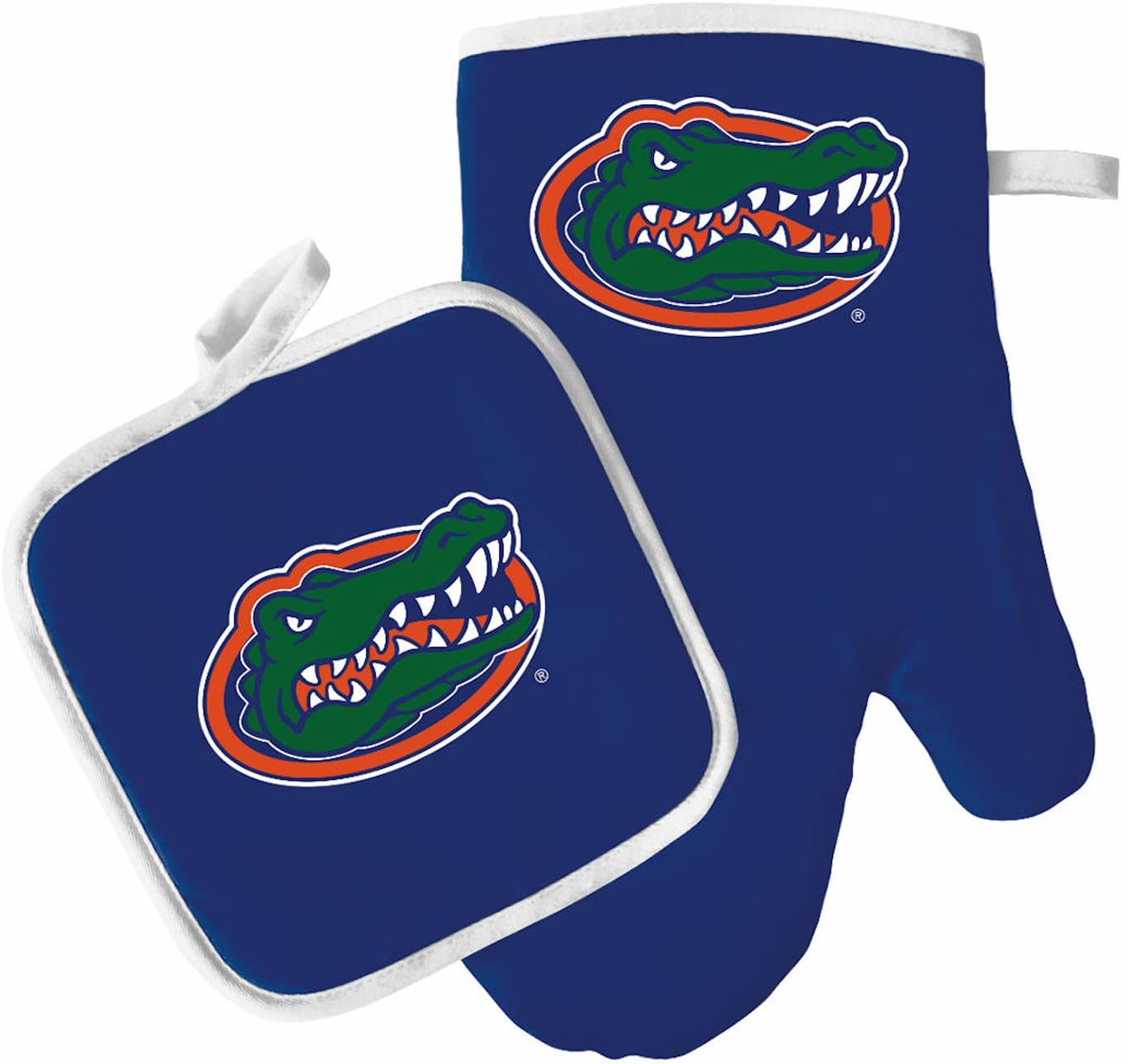 Pro Specialties Group Oven Mitt and Pot Holder Set - Barbeque BBQ Kitchen Backyard Outdoors - NCAA - Florida Gators