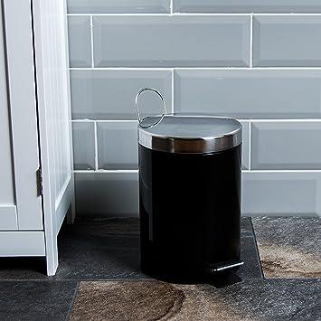 Home Discount Badezimmer Küche Mülleimer 3 Liter Edelstahl Abfall ...