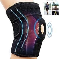AINOLAN Genouillère Rotulienne et Ligamentaire - Attelle de Genou Support Course Jogging Exercice Ajustable Unisexe - Souple et Respirante - Protection pour Course à Pied,Sports