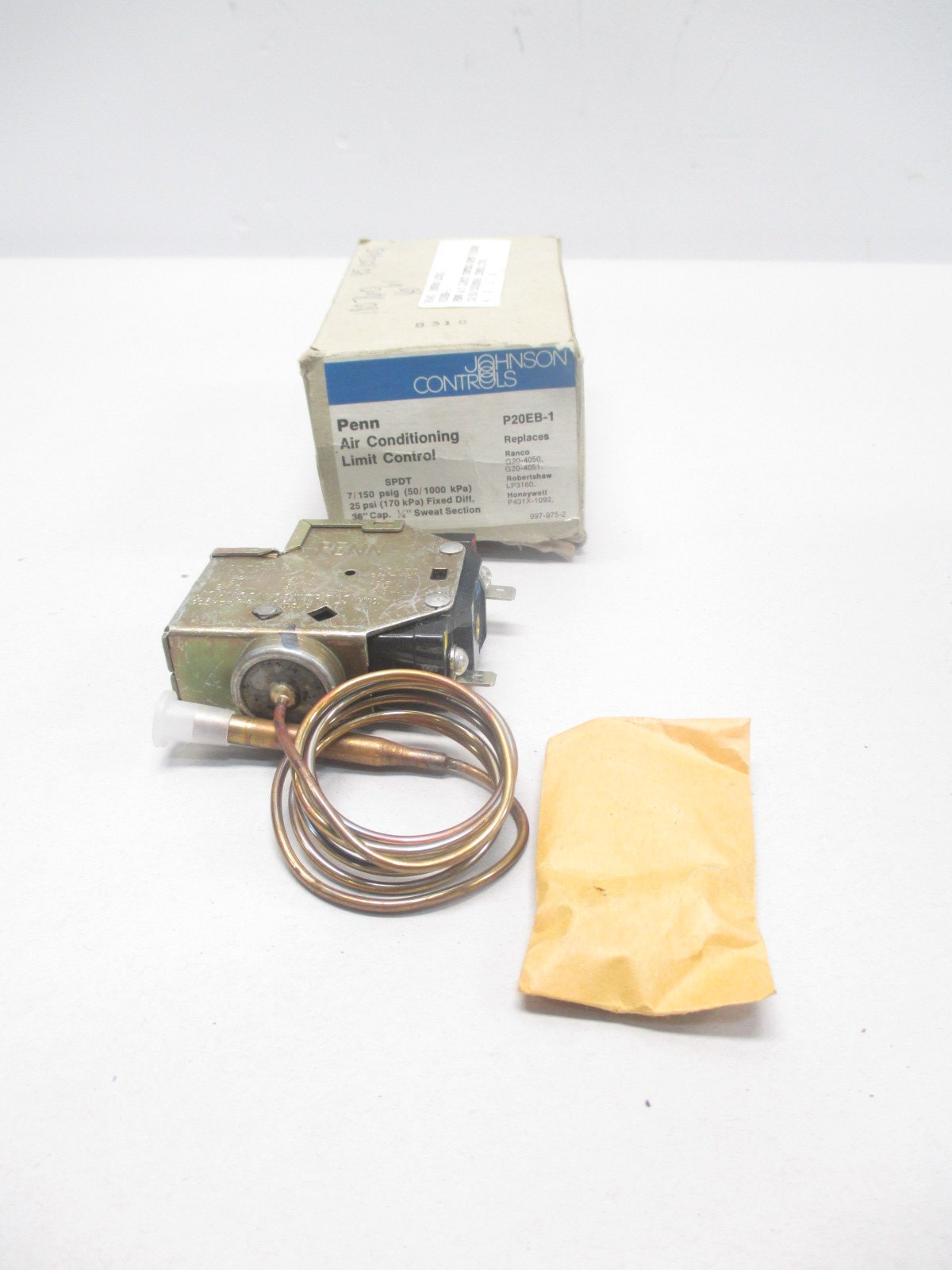 NEW JOHNSON CONTROLS P20EB-1 AIR CONDITIONING LIMIT CONTROL D469358