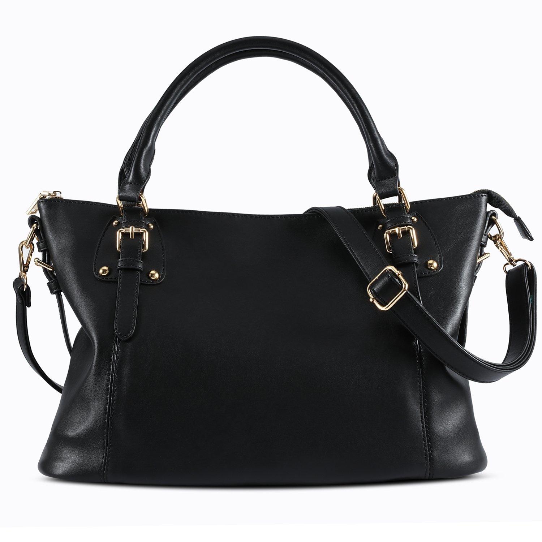 1c8d4a531 Plambag Large Tote Bag for Women, Faux Leather Laptop Handbag Purse  (Black): Handbags: Amazon.com