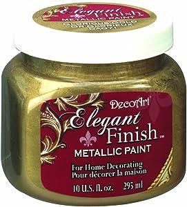 DecoArt DA071-51 Elegant Finish Metallics, 10-Ounce, Glorious Gold