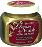 DecoArt DA071-51 Elegant Finish Metallics, 10-Ounce, Glorious Gold