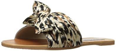 Steve Madden Women's Alex Flat Sandal, Leopard, ...