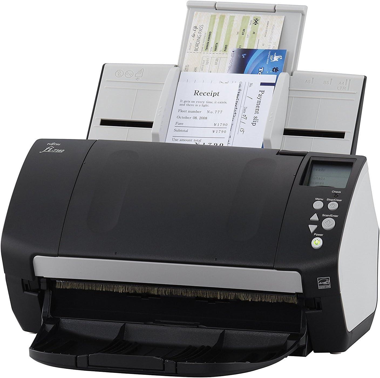 Fujitsu fi-7160 Scanner ADF 600 x 600DPI A4 Noir, Gris - Scanners (210 x 5588 mm, 600 x 600 DPI, 24 bit, 8 bit, 1 bit, 60 ppm)