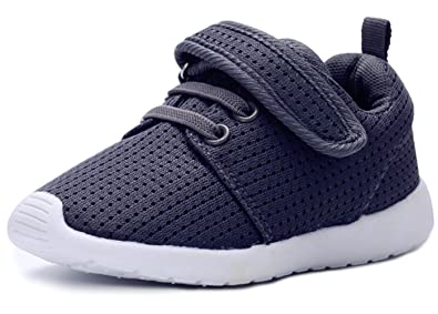 DADAWEN Baby's Boy's Girl's Breathable Strap Light Weight Sneakers Casual Running Shoes Gray US Size 11 M Little Kid MC8ahSz7J