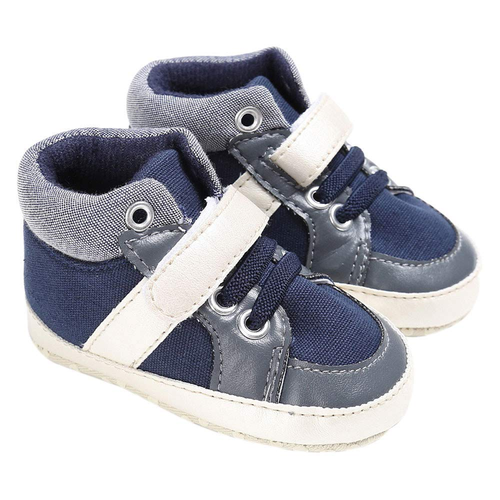 SportHome Baby Shoes Boy Girl Newborn Beautiful and Durable Crib Soft Sole Shoe Sneakers