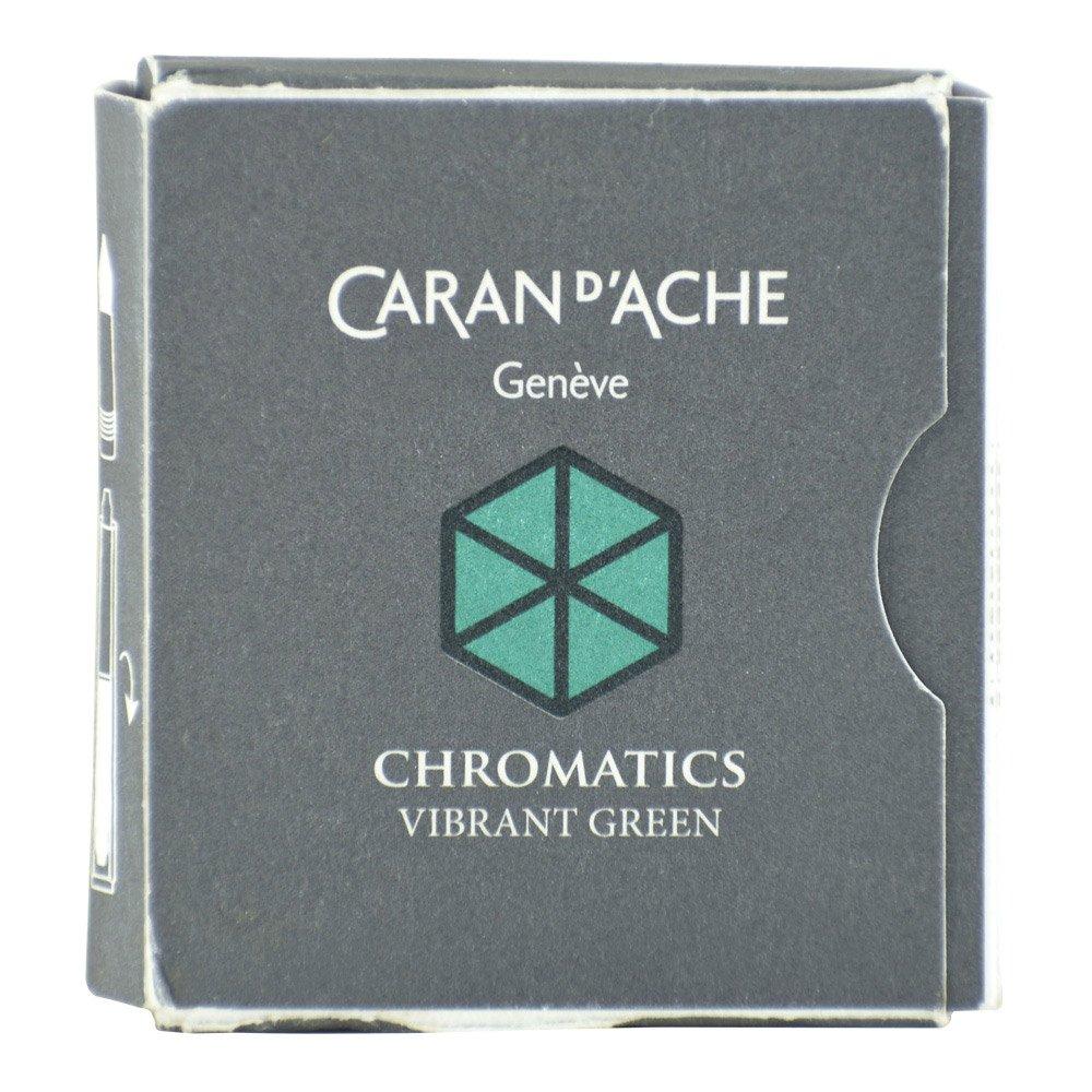 CARAN DACHE Cartucho de tinta cromática verde vibrante paq
