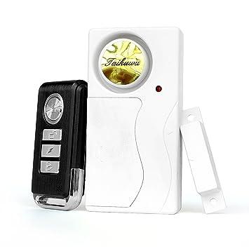 Taikuwu - Alarma de Puerta inalámbrica con Sensor magnético, Alarma antirrobo, Sistema de Alarma