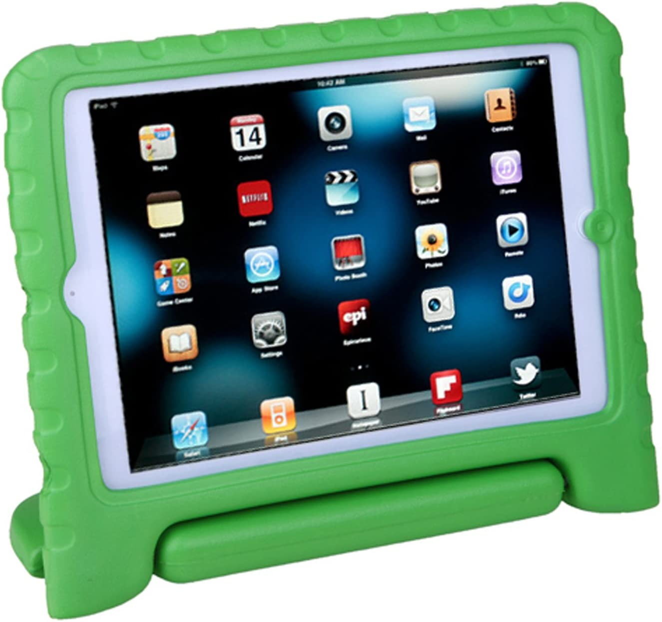 HDE Kids Case for iPad Mini 2 3 -Shock Proof Rugged Heavy Duty Impact Resistant Protective Cover Handle Stand for Apple iPad Mini 1 2 3 Retina (Green)
