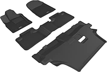 3D MAXpider Complete Set Custom Fit All-Weather Floor Mat for Select Jeep Grand Cherokee Models Gray Kagu Rubber