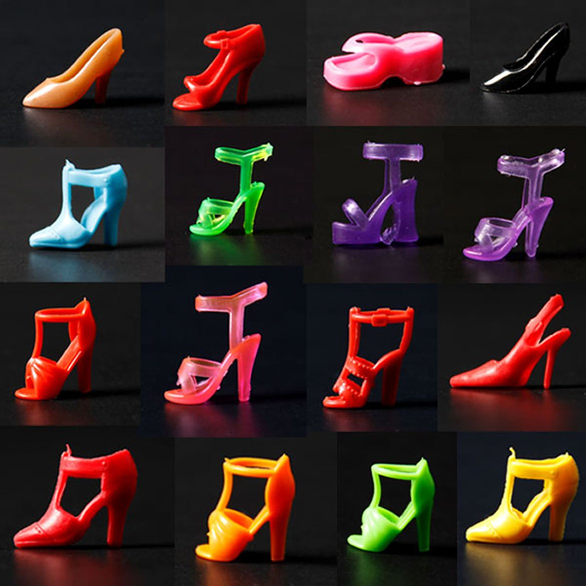 20 Pair Diffirent High Heel Shoes For 290mm Barbie Doll Toy Accessories [Toy] Hidream