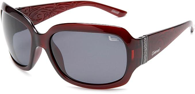 Coleman Gafas de sol polarizadas CC1 6024 para mujer, montura color borgo?a /