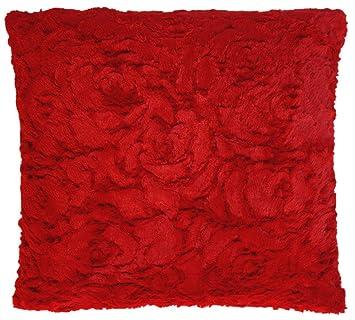 2 er Set Deko Kissenhüllen Cashmere-Feeling Rot Sterne 50 x 50 cm Kissenbezug