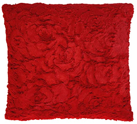 Funda de cojín de rosa de la funda de almohada de felpa de ...
