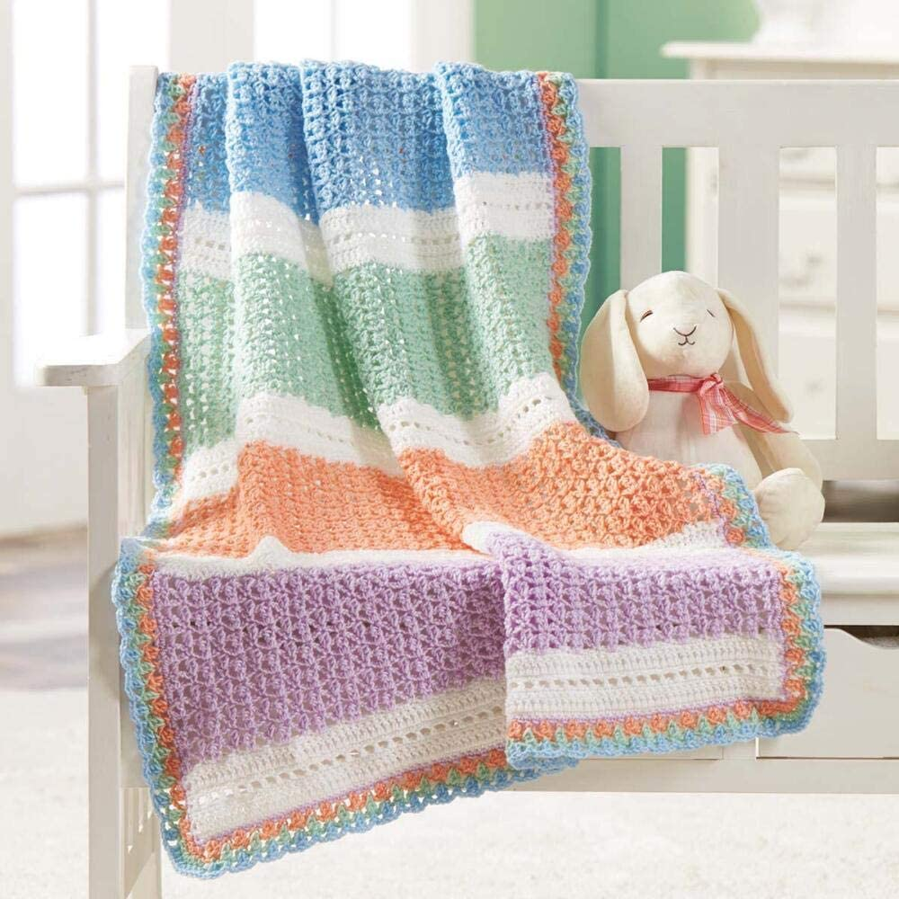 Herrschners Lollipops Baby Blanket Crochet Yarn Kit
