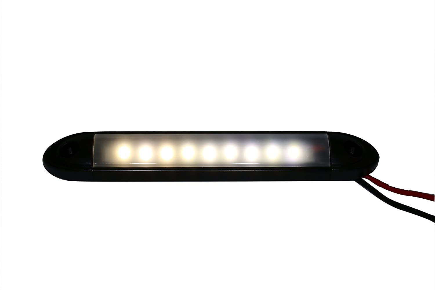 Amazon com led high output marine rv bar light waterproof 6 lamp 24vdc 160 lumen 24v automotive