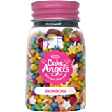 Cake Angels Edible Rainbow Sprinkles Decorative Cake & Dessert Toppings 75g